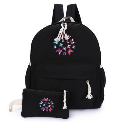 Школьный рюкзак с кошелечком в бабочках