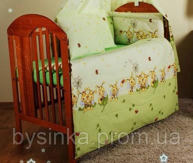 Детское постельное белье из 6 ед.(без балдахина и кармана). Пчелки
