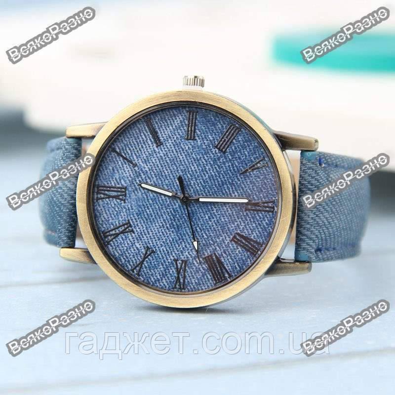 Женские часы под Jeans синего цвета