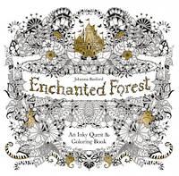 Раскраска Антистресс Зачарованный лес 25х25 см, 48 листов