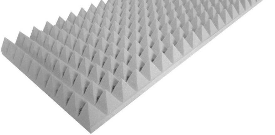 Акустический поролон «Пирамида 70» (100*50 см). Серый, фото 2