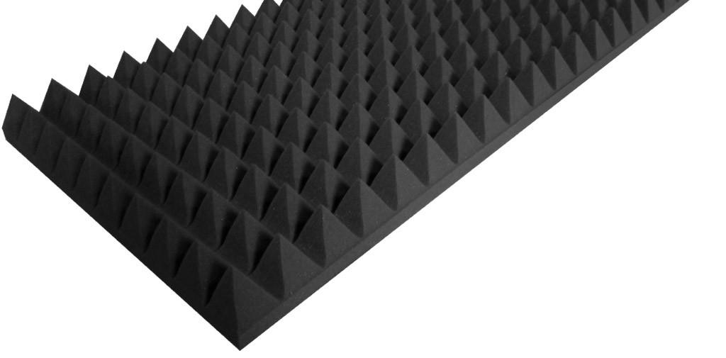 """Акустический поролон """"Пирамида 70"""" (100*50 см). Чёрный графит"""