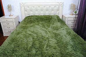 Покривало на ліжко травка, Євро 220х240 - темно - зелене