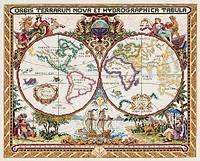 """Набор для вышивания крестом """"Olde World Map//Старинная карта мира"""" Janlynn"""