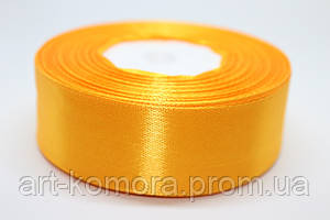 Лента атласная 2,5 см, желто-оранжевая №17
