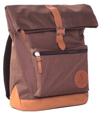 """Молодежный вместительный городской рюкзак GIN """"Лонг Айленд"""" 13 л, коричневый"""