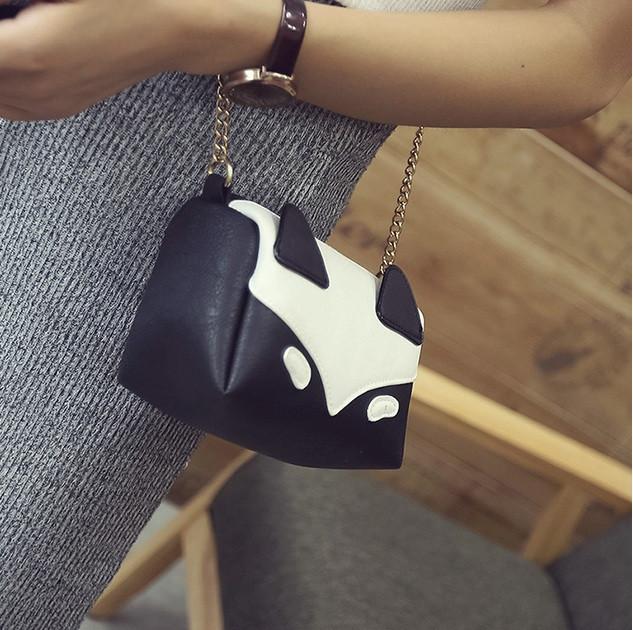 женская мини-сумочка лиса