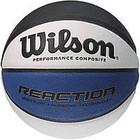 Мяч баскетбольный W REACTION BLA WHBLU BSKT SZ5 SS16