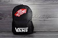 Городской рюкзак, для ноутбука, унисекс, Vans черный, высокое качество.