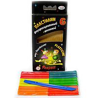 Пластилин Гамма 6 цветов флуоресцентный