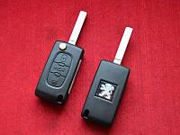 Ключ Peugeot выкидной 3 кнопки 46id 433Mhz PCF7941 (0523 ASK)
