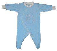 Комбинезон для новорожденного велюровый