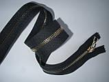 Блискавка металева роз'ємна 53см, 1 бігунок, темно-сіра, фото 4