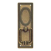 Ручка кольцо на подкладке вертикальная классика URB-12-18 античная бронза, фото 1
