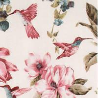 Ткани прованс Турция в цветы птицы колибри