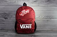 Городской рюкзак, для ноутбука, унисекс, Vans красный, высокое качество.