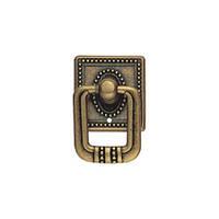 Ручка кольцо на подкладке URB-12-17 античная бронза, фото 1