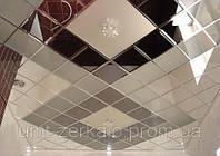 Плитка зеркальная с фацетом 10мм графит 100*100мм