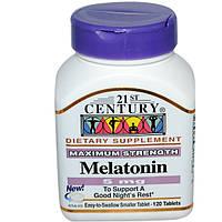 Мелатонин 120 таб 5 мг безопасное снотворное замедление старения регуляция биоритма 21-й век USA