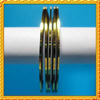 YRE Лента 2 мм. золотистого цвета на липкой основе для дизайна ногтей