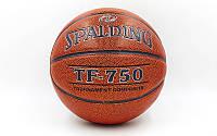 Мяч баскетбольный Composite Leather №6 SPALDING TF-750  TOURNAMENT Indoor/Outdoor (коричнев.)