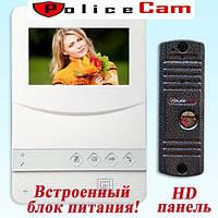 PoliceCam PC-431 W HD и PC-668H комплект видеодомофона