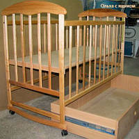 Кроватка детская Наталка с ящиком светлая