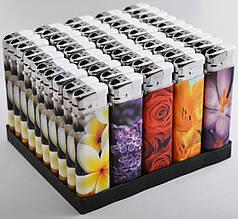 Зажигалка пьезо Парфюмированные (цветы) №4588