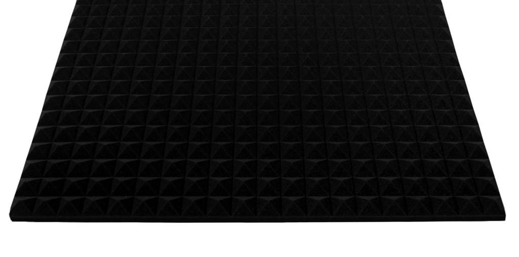 """Акустический поролон """"Пирамида 30"""" (1 м²). Чёрный графит"""