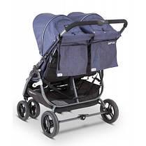 Прогулочная коляска для двойни Valсo Baby Snap Duo Denim, фото 3