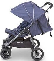 Прогулочная коляска для двойни Valсo Baby Snap Duo Denim, фото 2