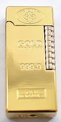 Зажигалка кремниевая слиток золота №3821
