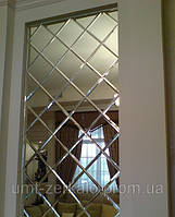 Плитка зеркальная с фацетом 10мм серебро 200*200 мм