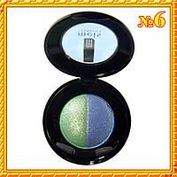 """Тени """"Meis"""" MS 0102 2-х цветные Тон 06 зеленые и синие"""