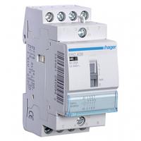 Контактор с ручным управлением Hager ERC427 25A 2НВ+2НЗ 230W