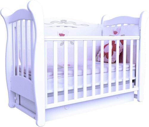Кроватка Верес ЛД15 маятник белая