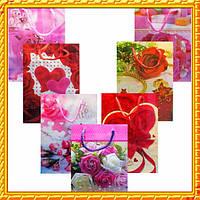 Пакеты Подарочные Пластиковый с Розами Упаковкой 17 см * 12 см * 5,5 см (малый)