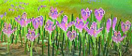 """Схема для вышивки бисером """"Цветы"""", 11х26 см"""