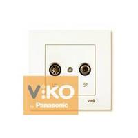Розетка телевизионная tv + спутниковая sat крем Viko (Вико) Karre (90960185)