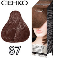 C:EHKO Крем-краска для волос C:Color в наборе Тон №67 шоколад