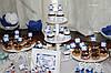 Свадебный Кенди бар Candy Bar в бело-синих тонах, фото 4