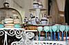 Свадебный Кенди бар Candy Bar в бело-синих тонах, фото 5