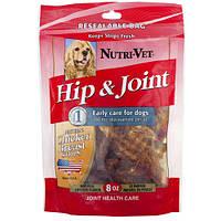 Nutri-Vet Hip&Joint НУТРИ-ВЕТ СВЯЗКИ И СУСТАВЫ филе курицы с хондроитином и глюкозамином для собак, 0227 кг.