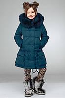 Теплое пальто для девочки Малика