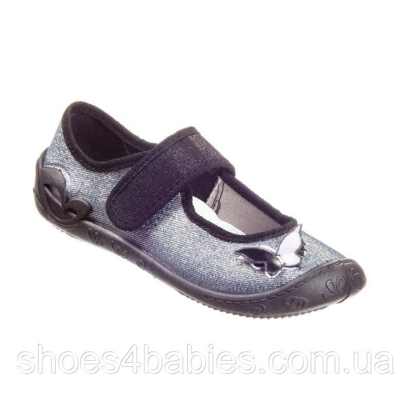 Детские текстильные туфли для девочки MB Польша р. 26 - 16,7см