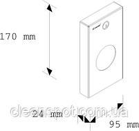 Держатель пакетиков для гигиенических прокладок металлический матовый, фото 2