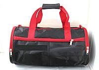 Спортивная сумка бочонок черная унисекс