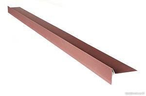 Планка торцева (вітрова планка, фронтонна) для бітумної черепиці 2м