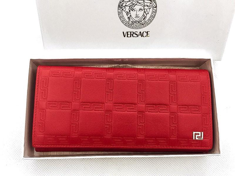 Женский кошелек Versace (V-3801) red