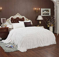 Покривало на ліжко травка, Євро 220х240 - молочне